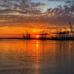 West Coast Sunset – Gothenburg Port, Sweden